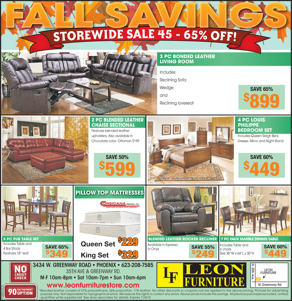 Dont miss the fall savings at leon furniture store store wide sale 45 65 off on furniture hurry grab the best for you sale furnituresale bigsale