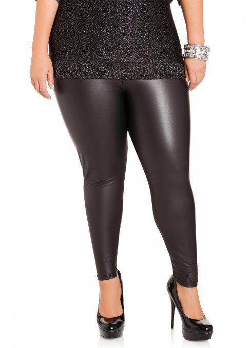 9f1f52bae2e28 Ashley Stewart Women s Plus Size Faux Leather Leggings - http   www.amazon