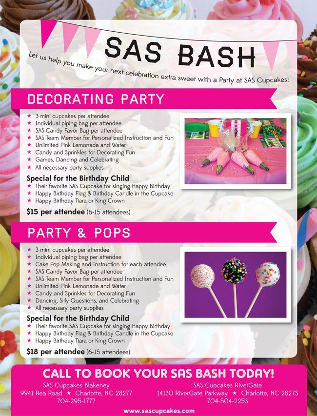 SAS Cupcakes in Charlotte, NC | SAS Bash Celebrations