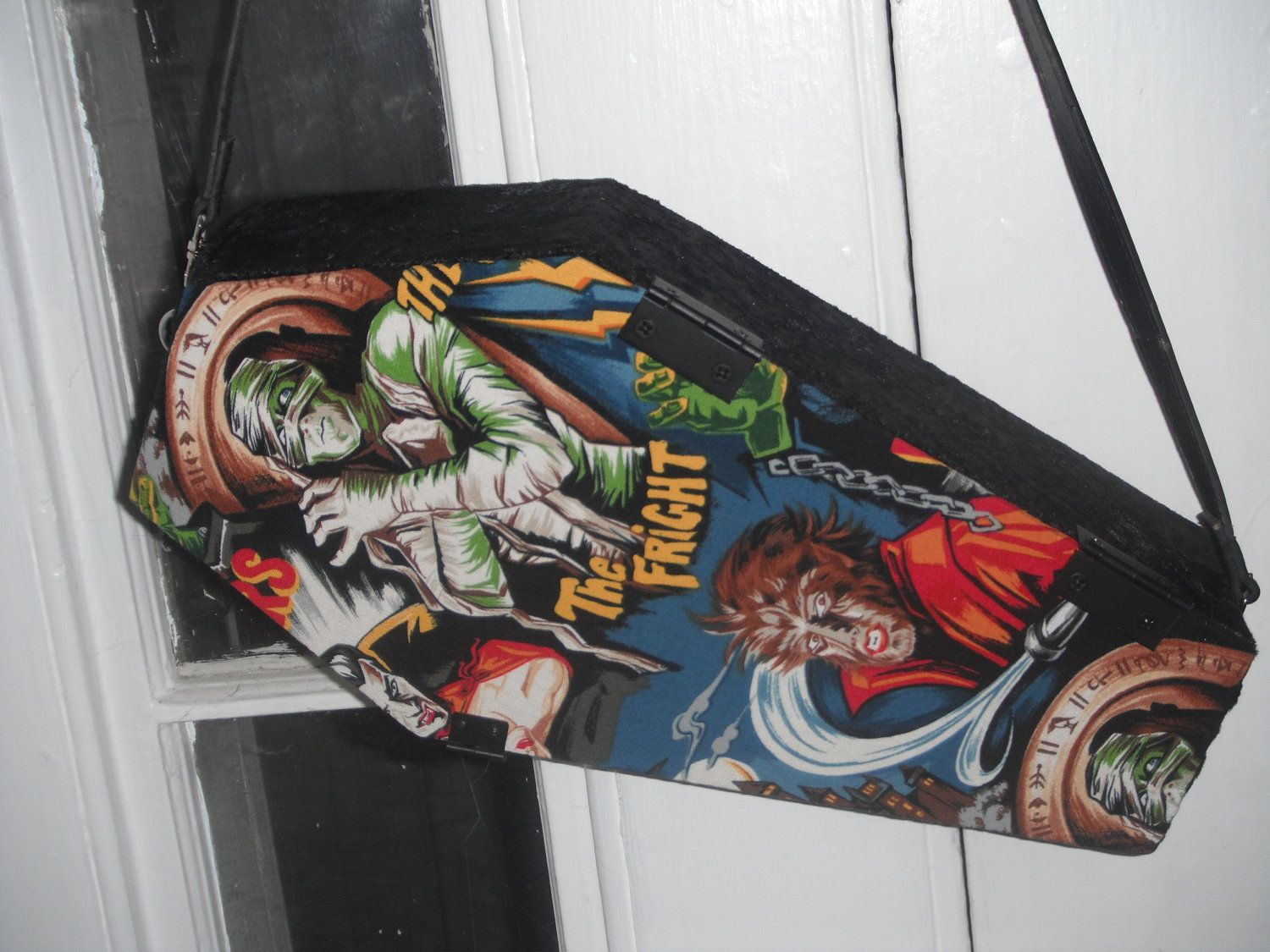 Mummy & Wolfman Horror Coffin Purse. $45.00, via Etsy.