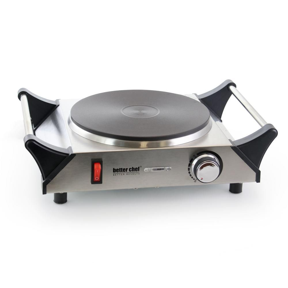 Better Chef Portable Single Burner Stainless Steel 8 In Solid Element Electric Hot Plate 985102730m In 2020 Best Chef Stainless Steel Steel