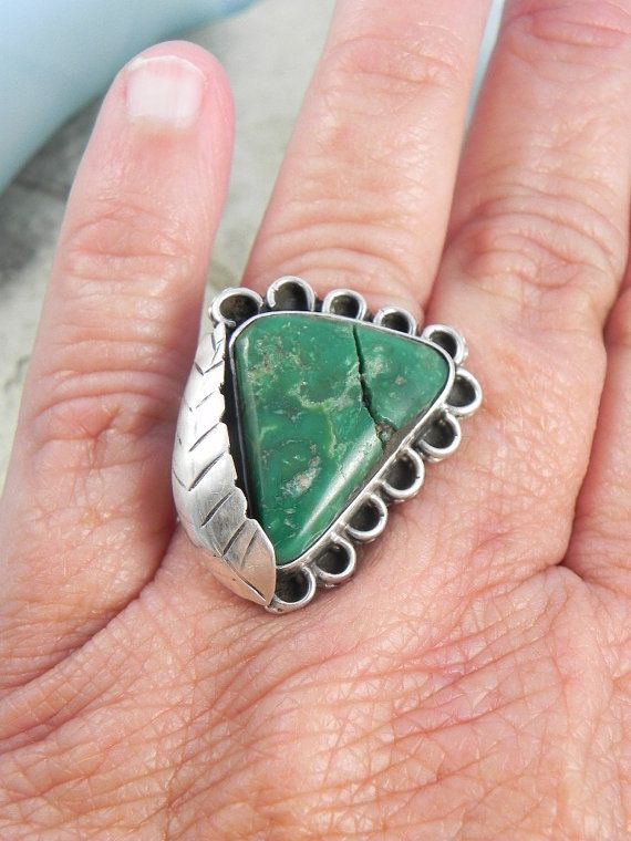 Native American Pawn Turquoise Ring by hollywoodrings on Etsy, $45.00