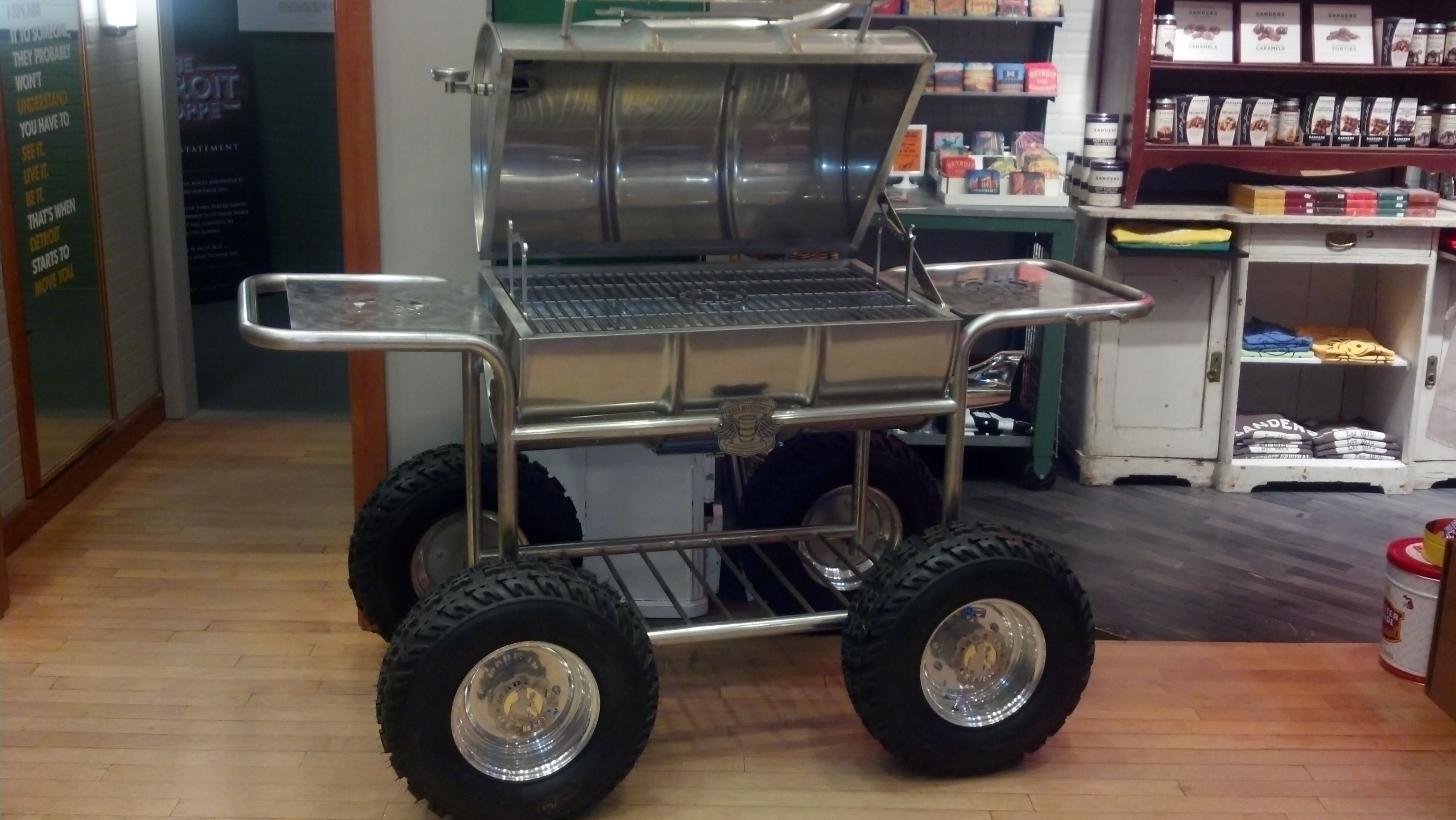 This Awesome grill was designed by Kid