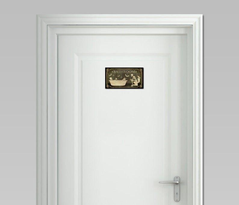 Gothic door sign for your bathroom, door sign, door sign.