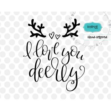 Download I love you deerly SVG, valentine SVG | Valentines svg ...