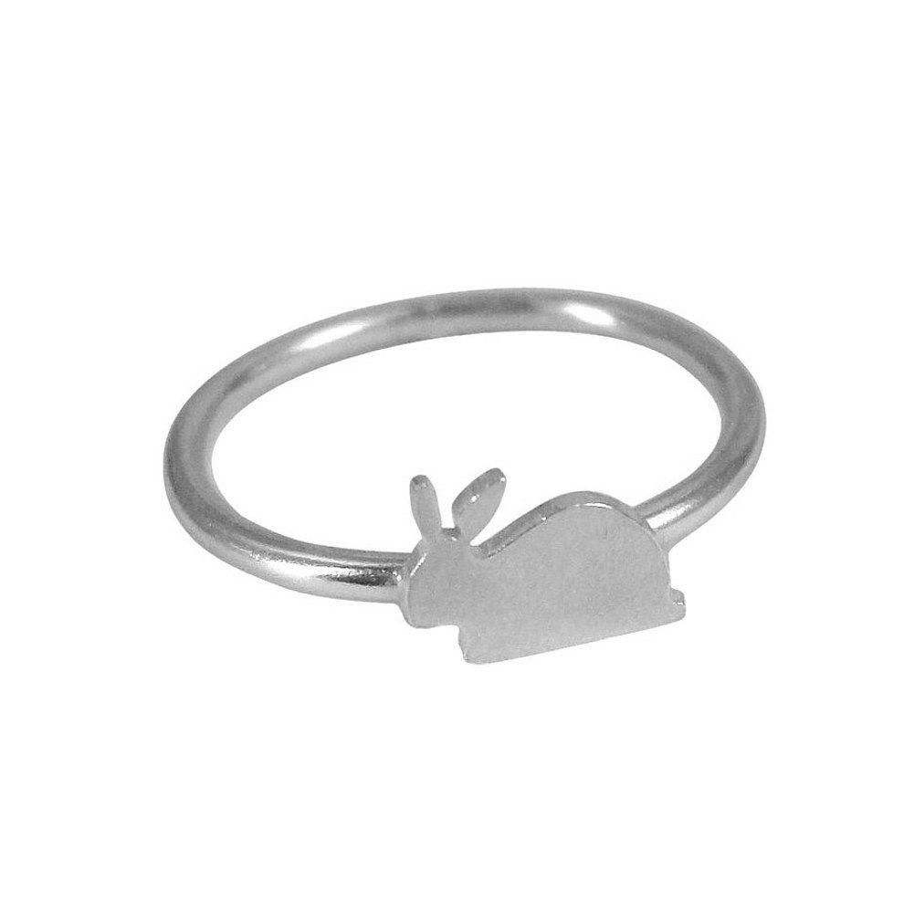 Childrens silver rabbit ring easter pinterest rabbit rings