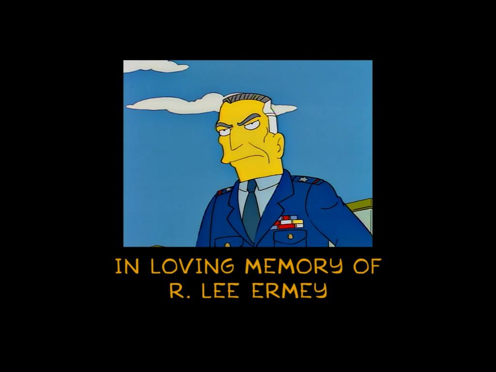 In Loving Memory of R. Lee Ermey