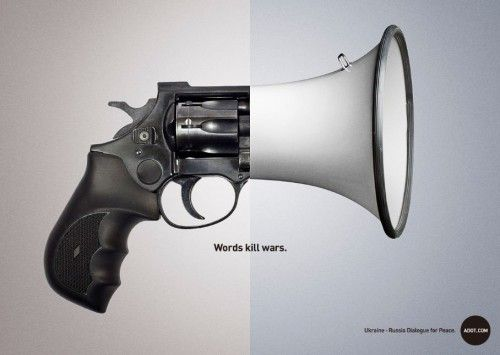 Adot Words Kill Wars Ad 2 500x355 Words Kill Wars Ad Campaign