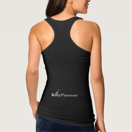 """KittyPurrson™"" Funny Womens Cute Black Tank Top"