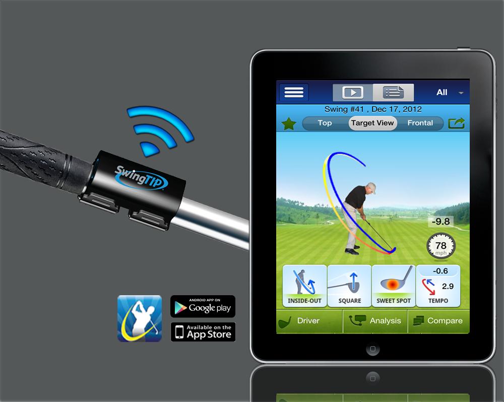 SwingTIP Golf Swing Analyzer, Sensor and App Golf swing