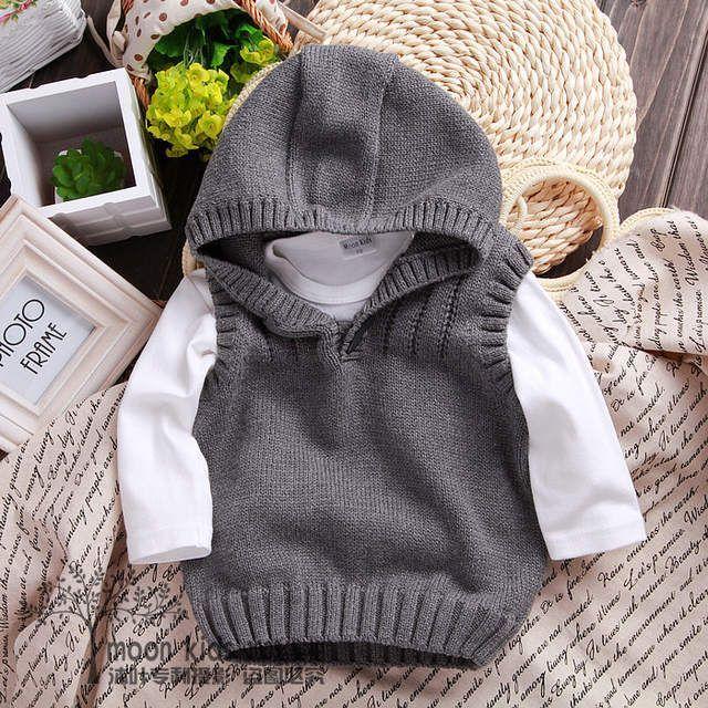 Neue 2015 frühling herbst kinder pullover jungen strick weste kinder kleidung baby weste stri... #childrenssweaters