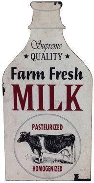 Wayfair Alexander Metal Farm Fresh Milk Wall Dcor. #afflink