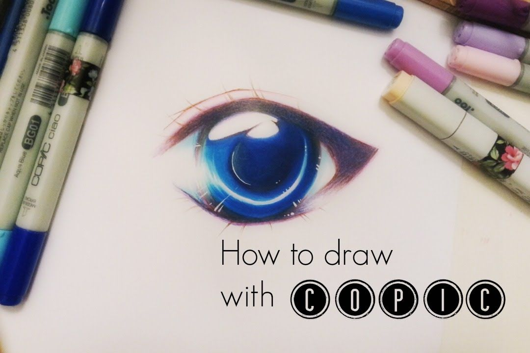 Video By Rambutan Illustration Super Simple Drawing Tutorial On How To Draw And Color Manga Eyes Copic Marker Drawings Copic Marker Art Copic Markers Tutorial
