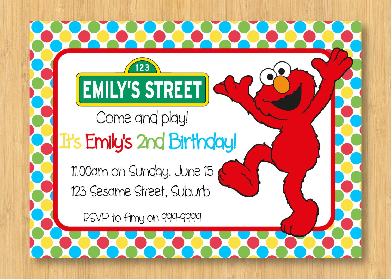 Printable Elmo Party Invitations