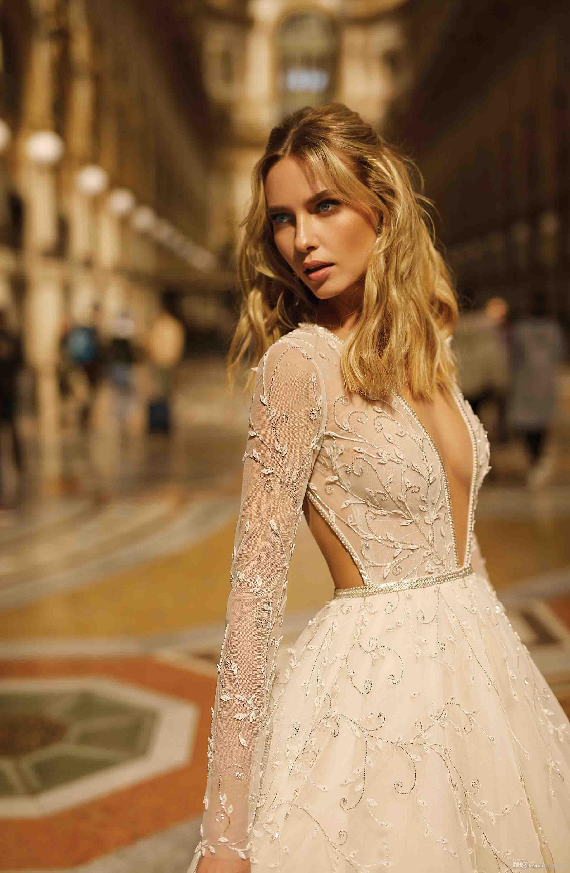 Discount 2020 Boho Berta Wedding Dresses