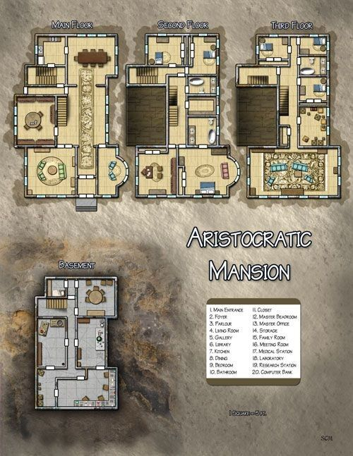 Lord Chambles Residence AAA Game1 Pinterest RPG