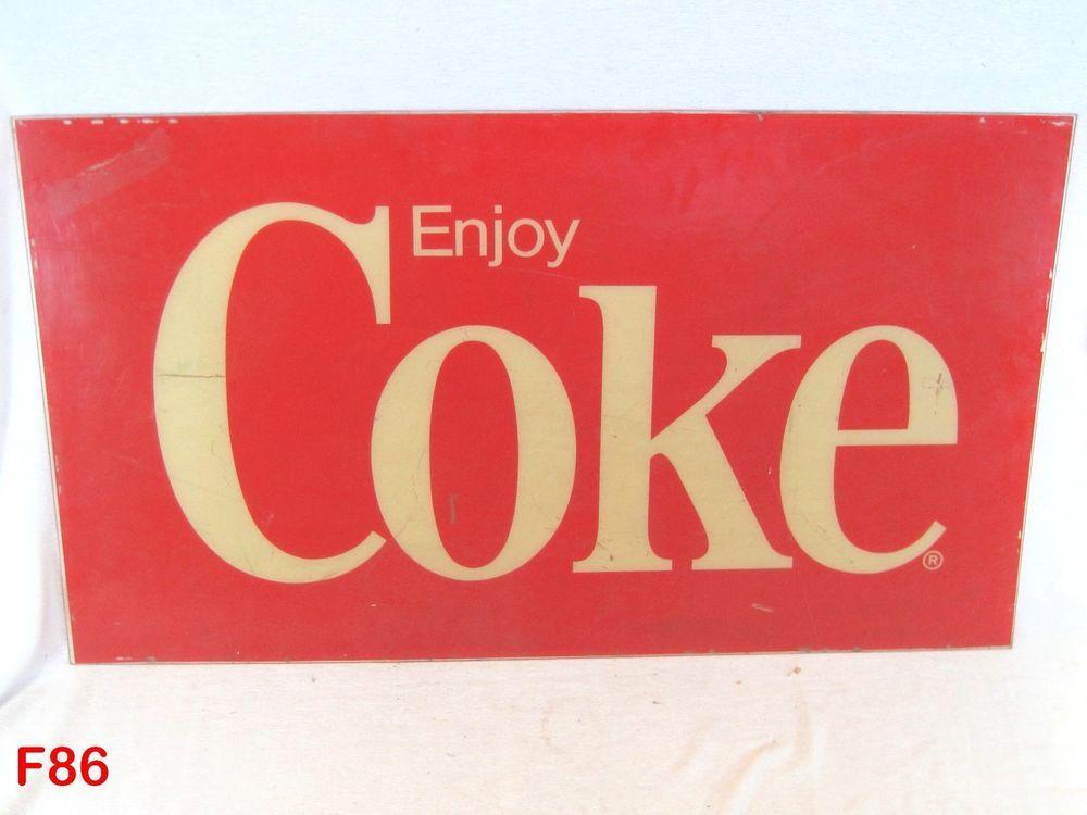 VINTAGE ENJOY COKE COCA COLA SODA VENDING MACHINE PLEXIGLASS DISPLAY SIGN VENDO #CocaCola!!!!!  BUY IT NOW!!!!