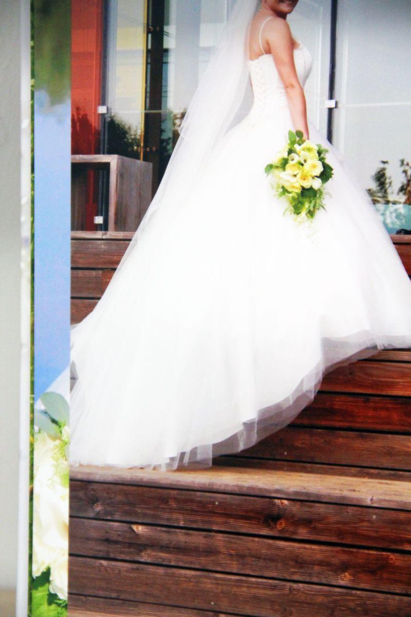 ♥ Verkaufe mein schönes Brautkleid, mit Schleier+Reifrock ...