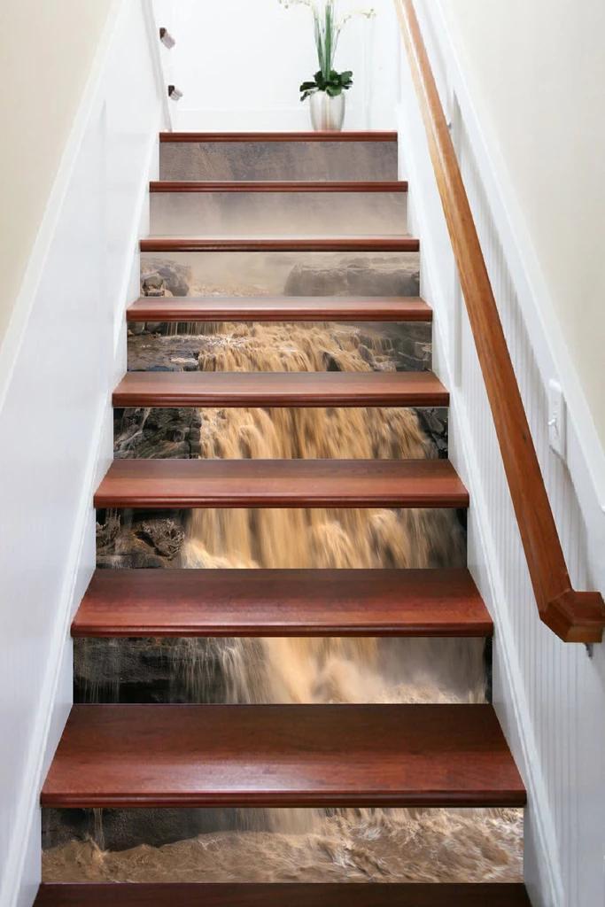 Pin de AJ WALLPAPER em Nature Sea Stair Risers Escadas