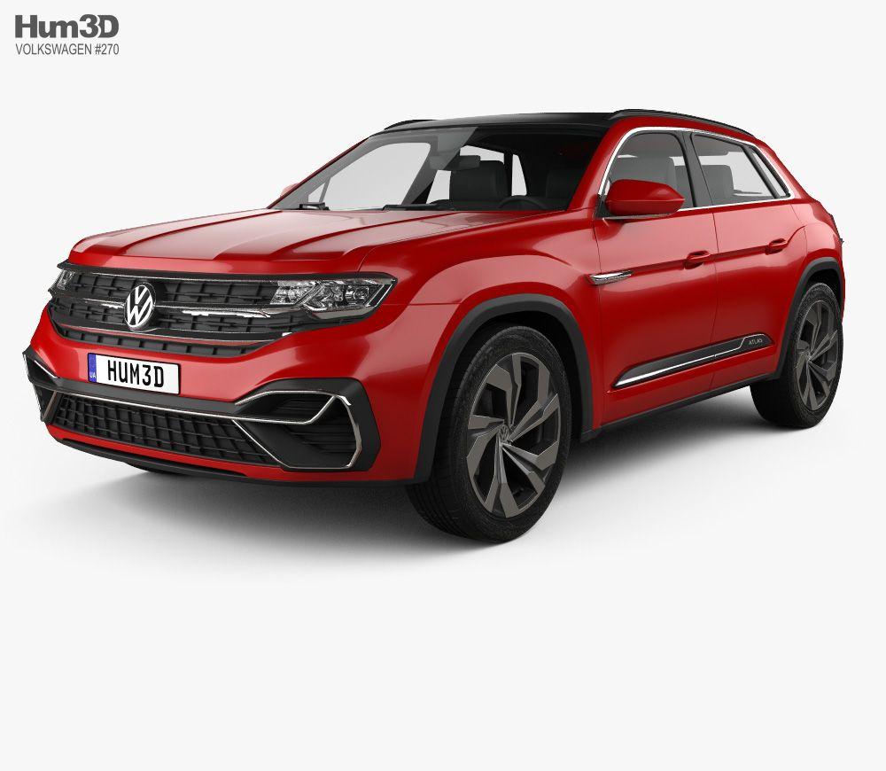 3D model of Volkswagen Atlas Cross Sport 2018 in 2020