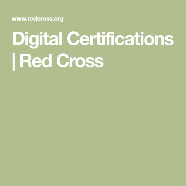 Digital Certifications Red Cross Swim Pinterest