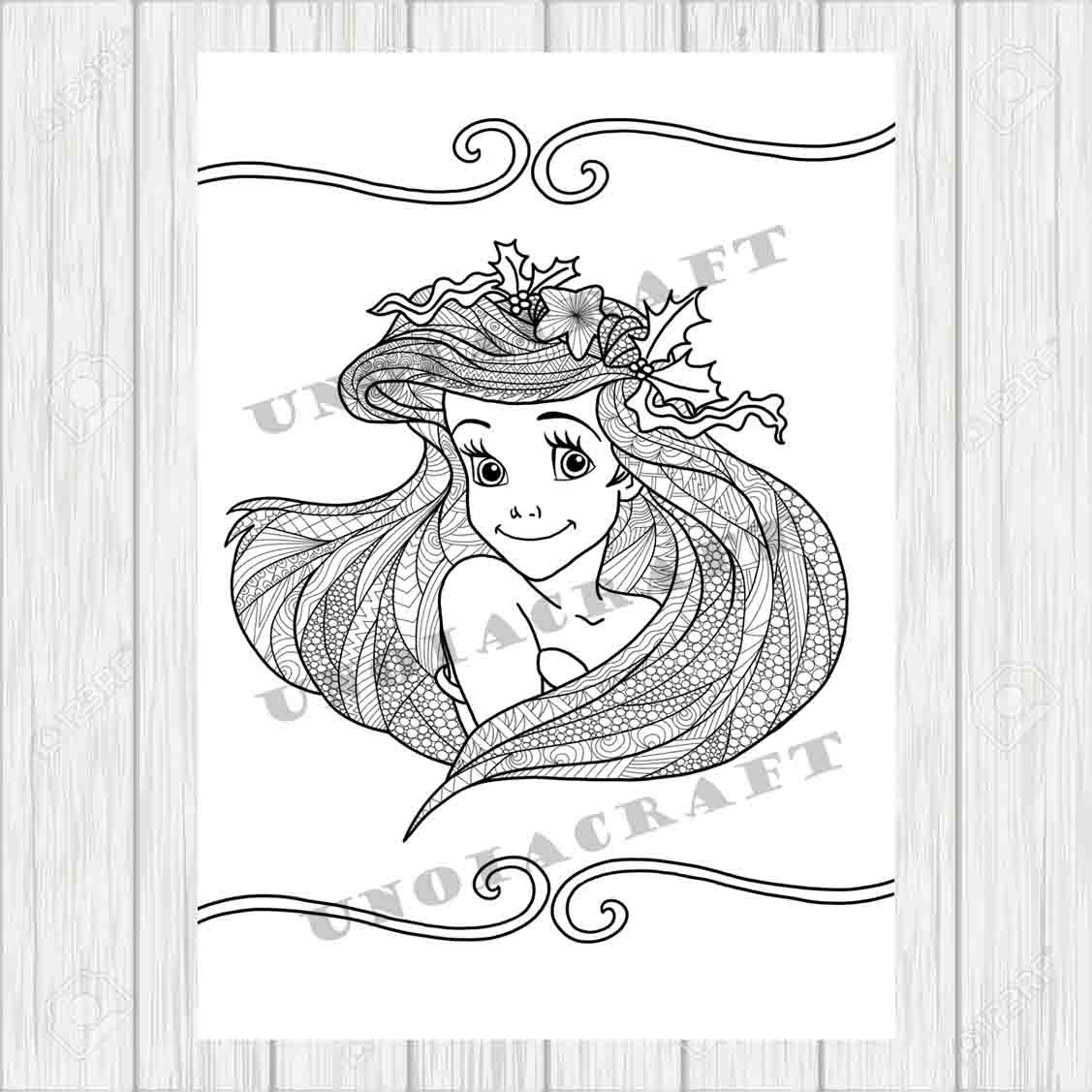 Mermaid coloring, zentangle coloring, colouring sheets