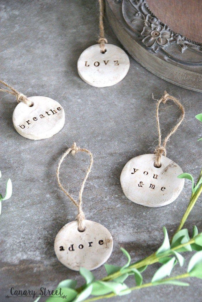 DIY Rustic Clay Tags – Canary Street Crafts