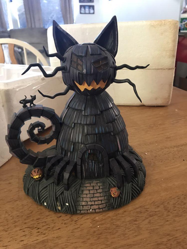 hawthorne village nightmare before christmas cat house with devil figurine coa hawthornevillage - Hawthorne Village Nightmare Before Christmas