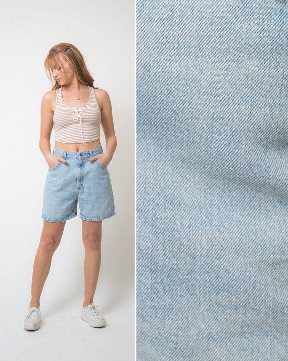 8285a9cb2f Mom jean shorts- Vintage shorts JEAN shorts high waist 1990s denim long  jean shorts size 28 jean sho
