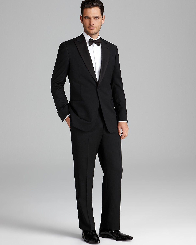 Armani Collezioni Giorgio Peak Lapel Tuxedo Suit - Classic Fit ...