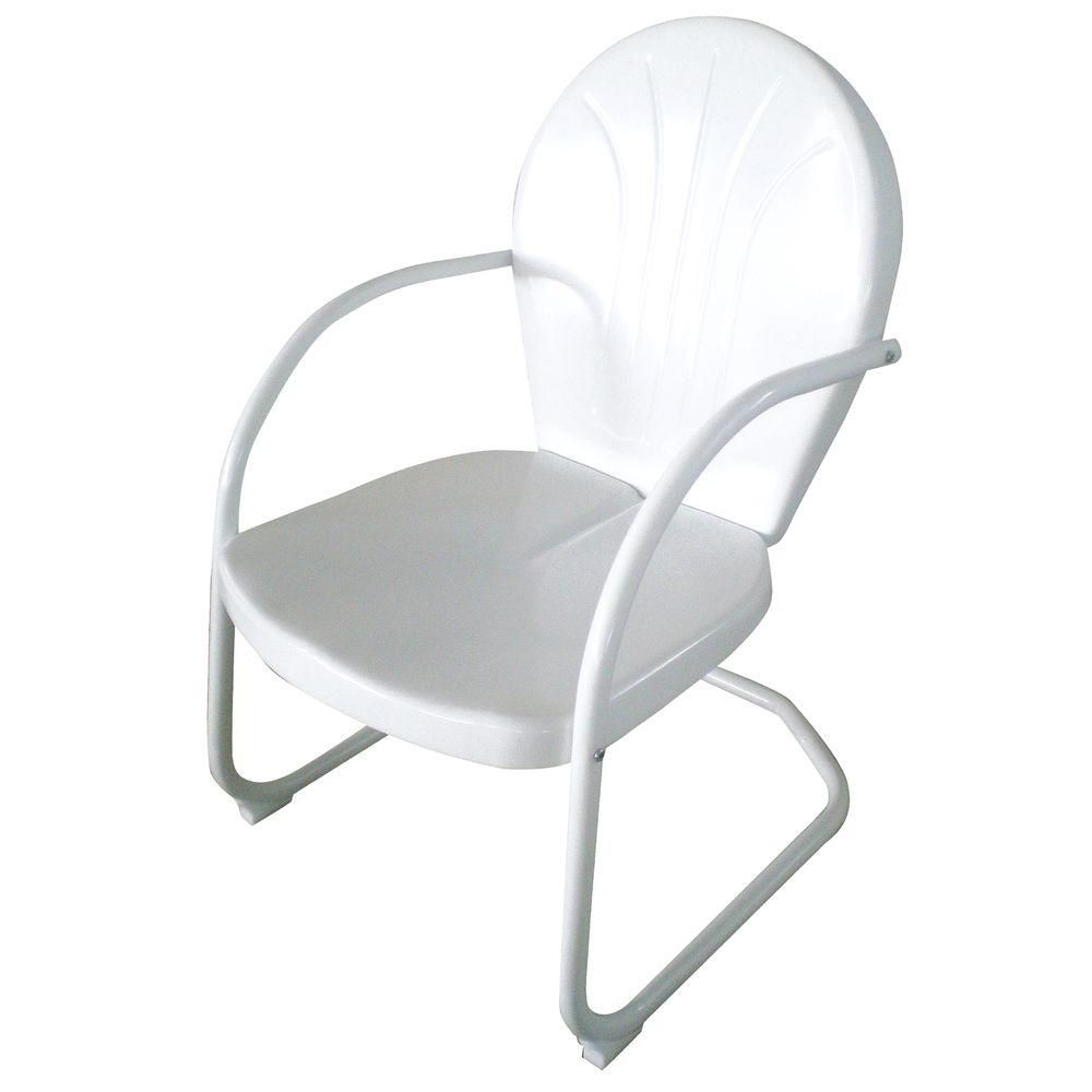 The AmeriHome Retro Style Series White Metal Patio Lawn Chair Indicates To  View The Product Information With All Necessary Specifications.
