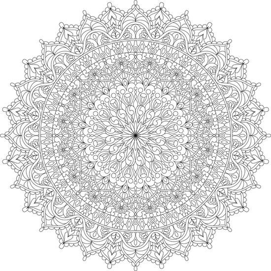 Warm Soul Mandala Coloring Page By Varda K border=