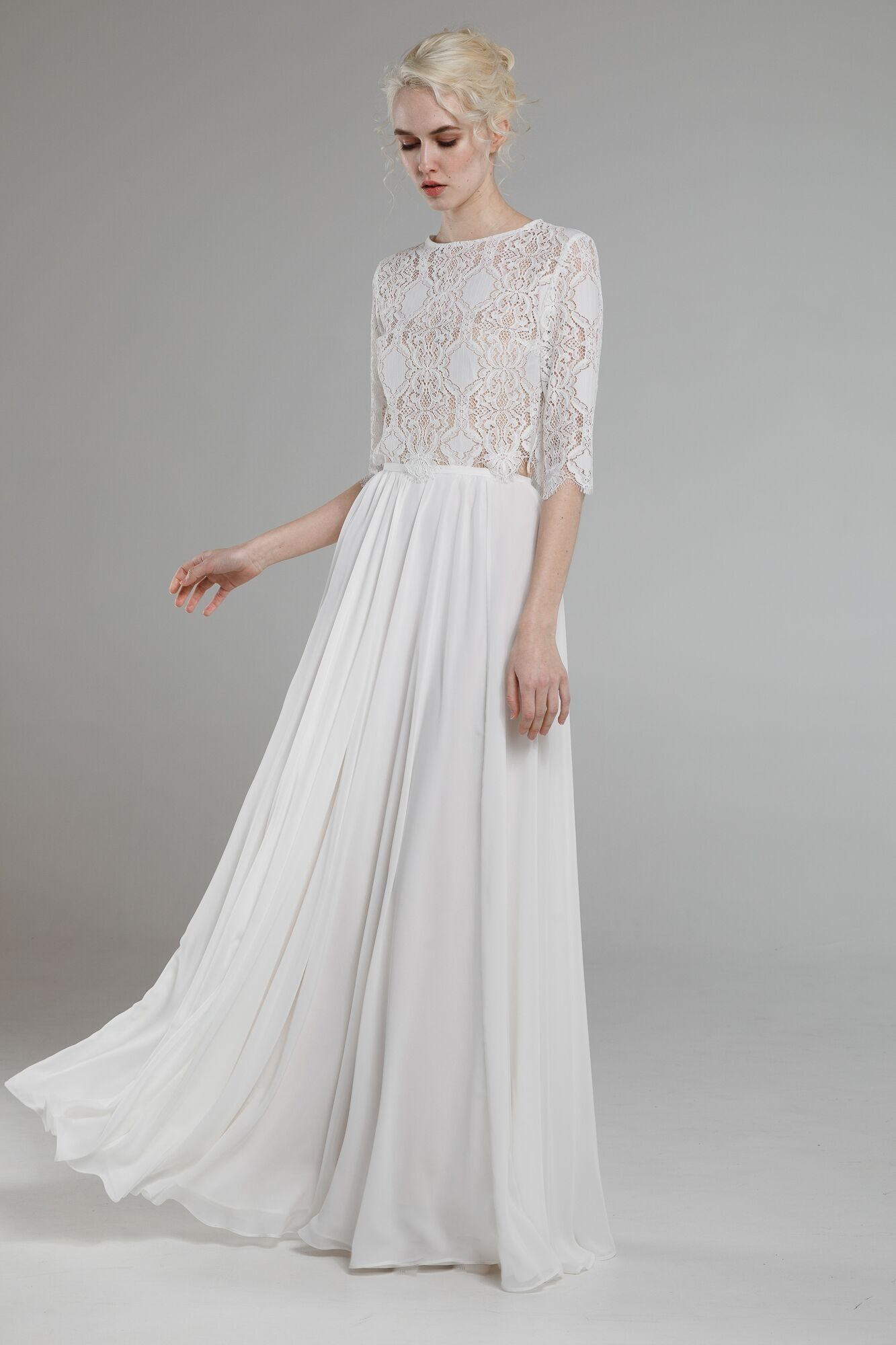 For the ultra chic, cool bride. This modern minimalist two