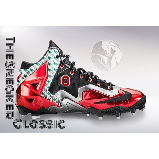 wholesale dealer b703a a1846 OSU Lebron football cleat Football Cleats, Air Max Sneakers, Sneakers Nike,  Nike Air