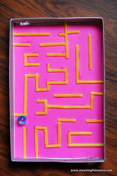 Cardboard Box Marble Maze