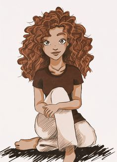 Pin By Gurleen Sawhney On Cartoon Curly Hair Drawing Curly Girl Hairstyles Hair Illustration