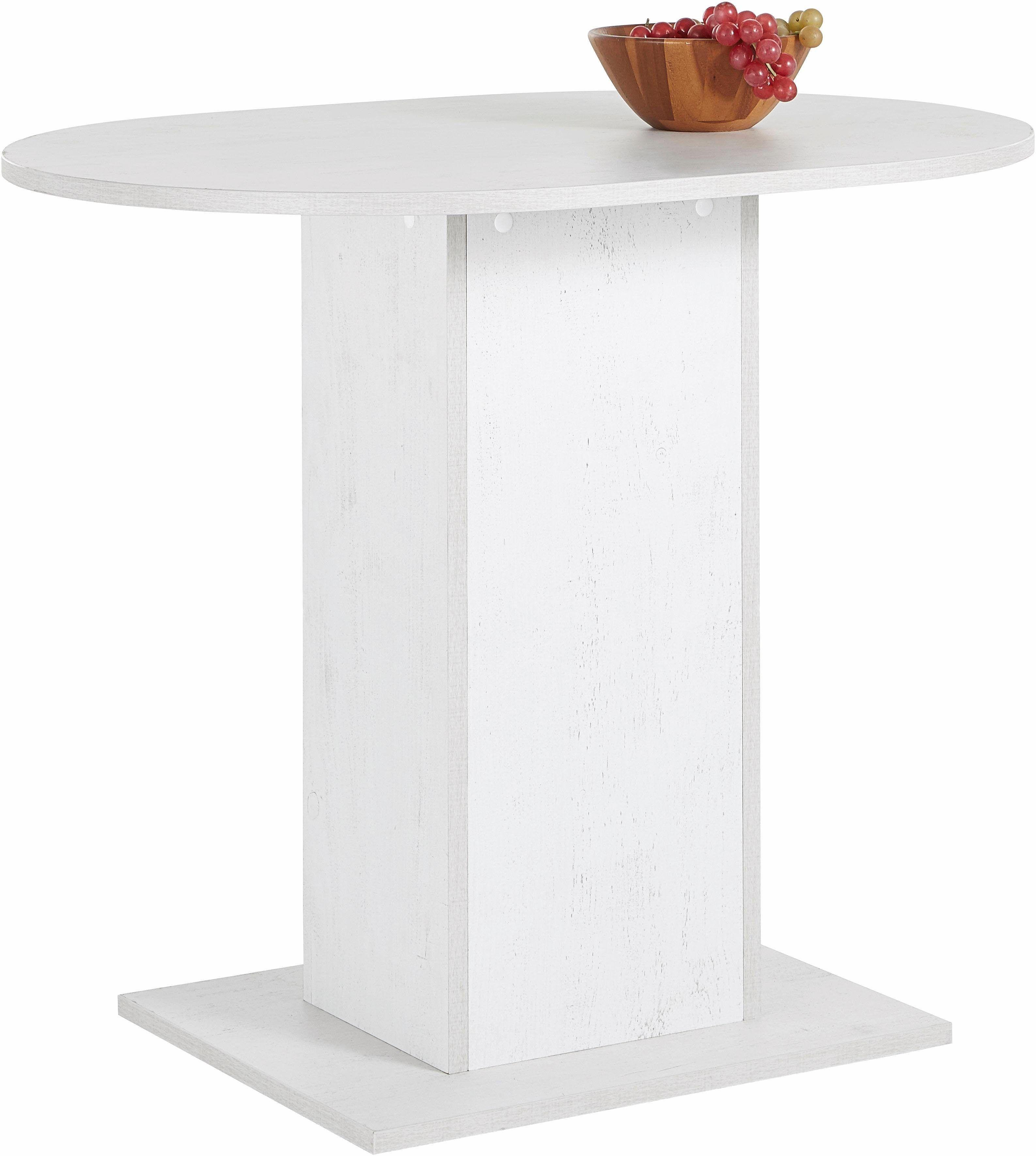 Verführerisch Säulen Esstisch Foto Von Säulen-esstisch »apollon 2Â« Weiß, Pflegeleichte Oberfläche, Fsc®-zertifiziert,
