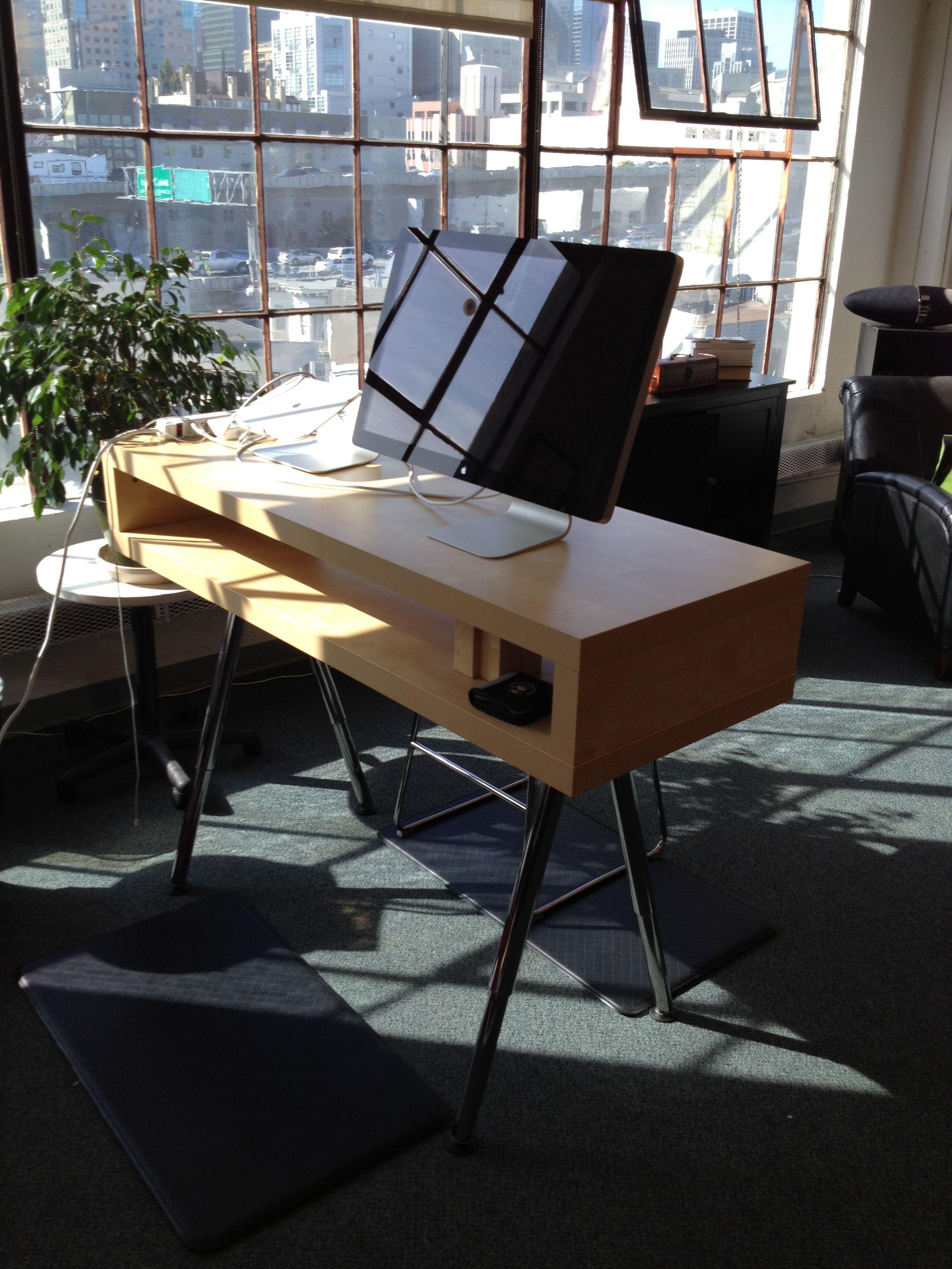 ikea standing desk hack adjustable