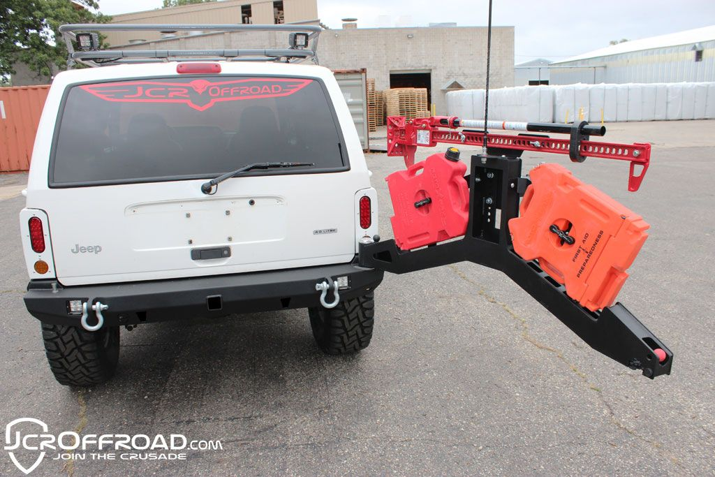 Xj Tire Carrier Adventure Bumper Mount Jeep Cherokee 84 01