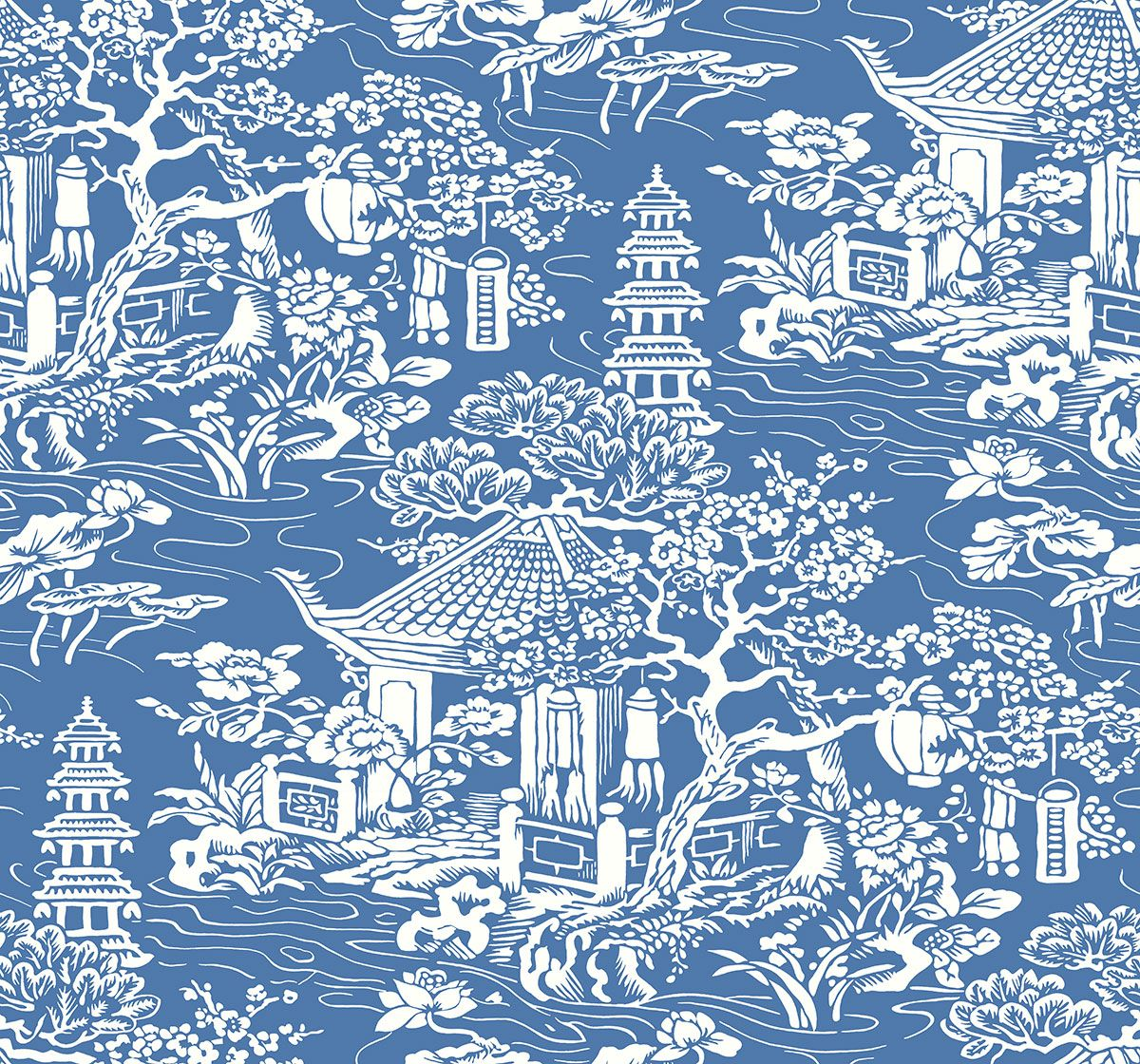 Toile Blue & White Wallpaper makes a statement. From the Midsummer Breeze range. http://decoratingheaven.com.au/colourful-wallpaper-midsummer-breeze/