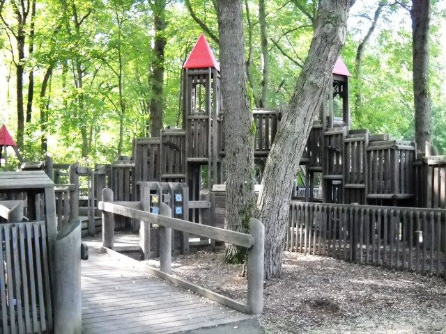 One Of The Few Wooden Castle Playgrounds Left In Nj Great Shade