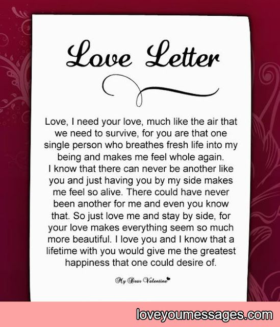 Deep Love Letters For Her Deep Love Letter Letters Her