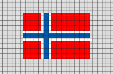 Flag Of Norway Pixel Art Pixel Art Drapeau Et Pixel