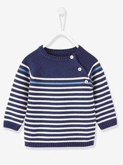 2fc6460e2 Jersey a rayas para bebé niño   Children's   Sueter tejido para niño ...