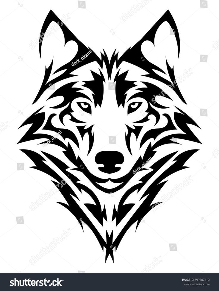 Tribal Tattoo Ideas For Shoulder And Chest Tattoos For Women Tribal Wolf Tattoo Tribal Wolf Wolf Tattoo Design