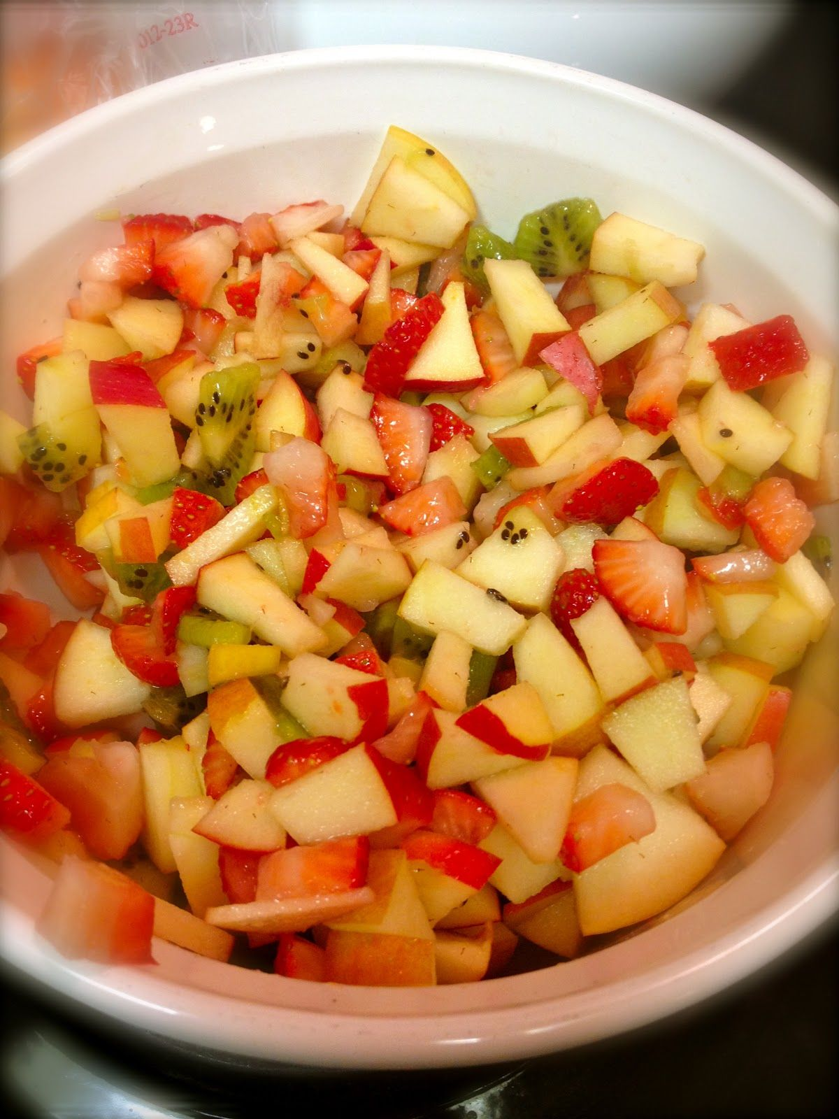 Fruit Salsa And Mixed With Dove Chocolate Discoveries White