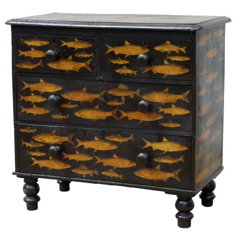 Best Black Decoupage Chest Of Drawers From A Unique 400 x 300