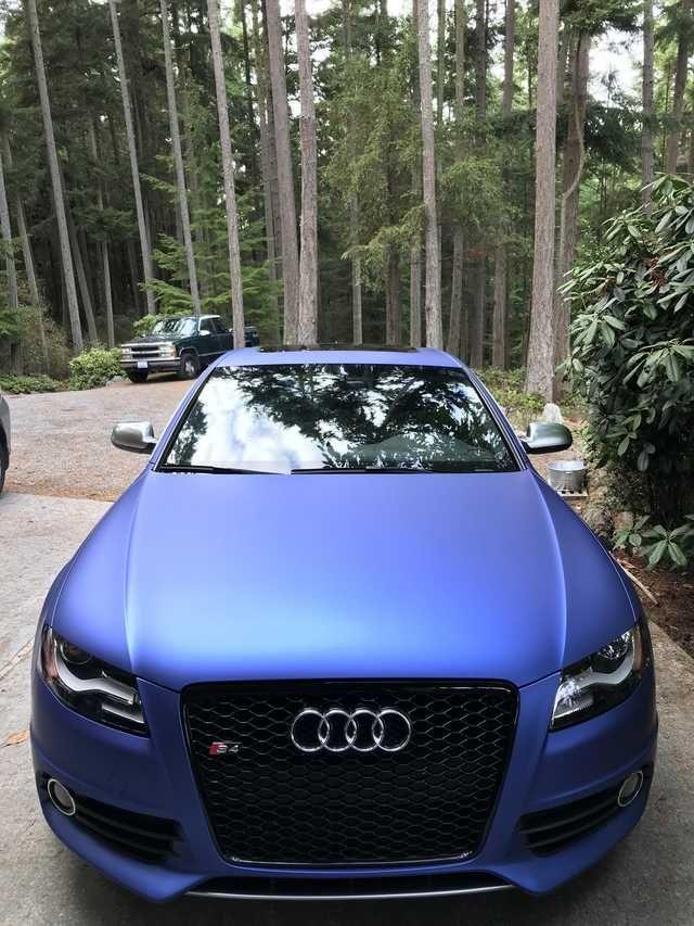 B8 S4 Matte Blue Metallic Wrap Krb Audi Audi S4 Audi A4