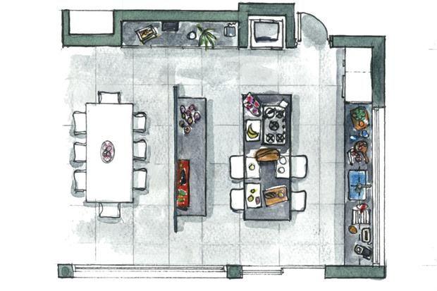 soluciones brillantes para una cocina integrada living espacio living
