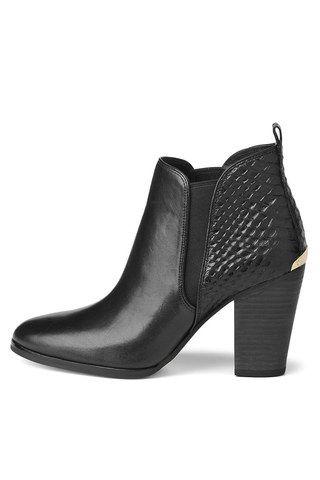 BURBERRY Stiefeletten Gr. D 365 Schwarz Damen Schuhe Boots Shoes High Heels